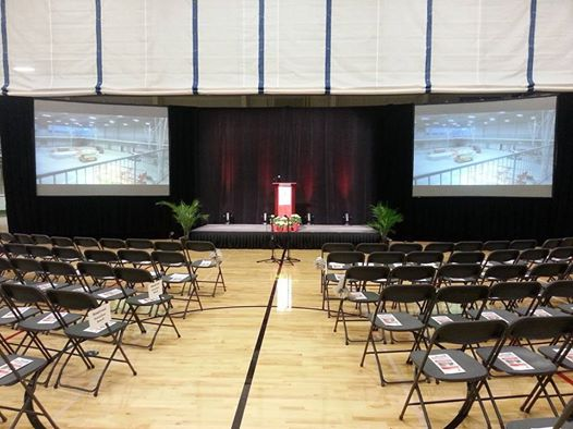 Screens, Stage, Sound and Lighting at the  South Shore YMCA  Grand Opening Ceremonies!