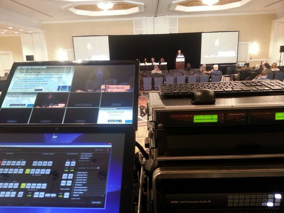 Using our 4k switcher, projectors and event audio system for the  Massachusetts Biotechnology Council  meeting with our friends at Pulse Media.