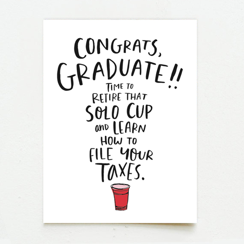 lettered congrats grad solo cup wink wink paper co
