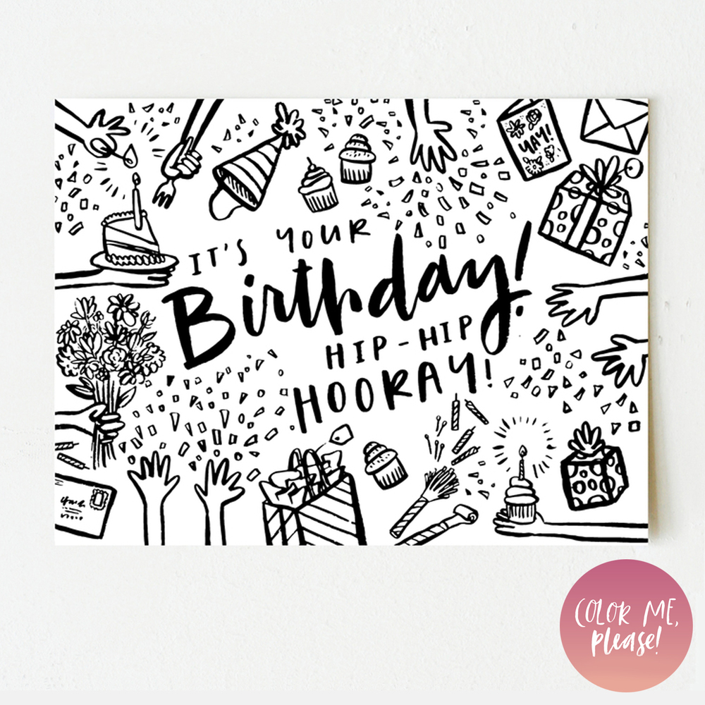 color me please it u0027s your birthday u2014 wink wink paper co