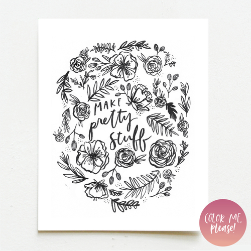 Color Me, Please | Make Pretty Stuff — Wink Wink Paper Co.