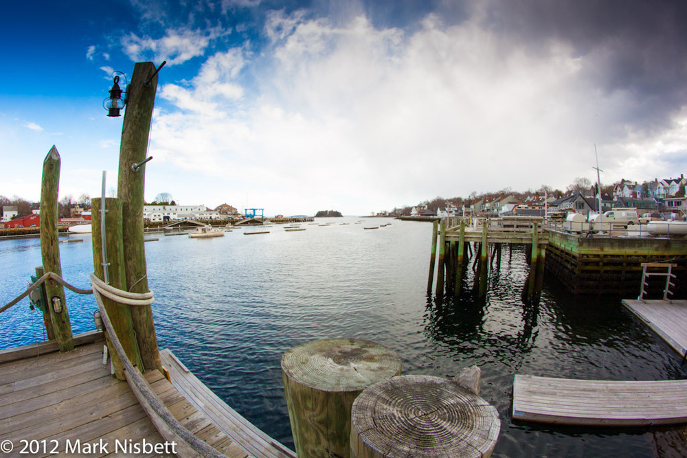 Camden, Maine - Harbor, Fisheye Lens