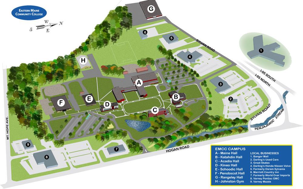 EMCC Campus Map