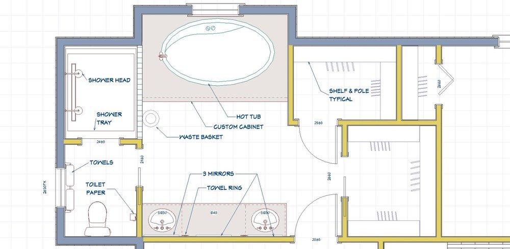 Master Bath Plan view