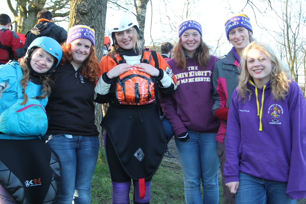 The ladies of Manchester Uni Canoe Club