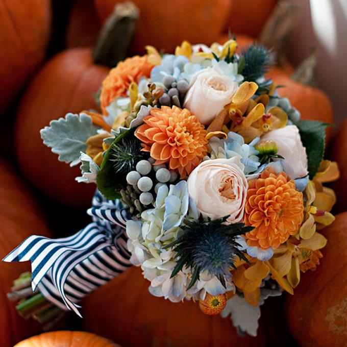 -Fall: Alstromeria, Anemone, Gerber Daisy, Juniper, Orchid, Sunflower, Roses, Zinnia
