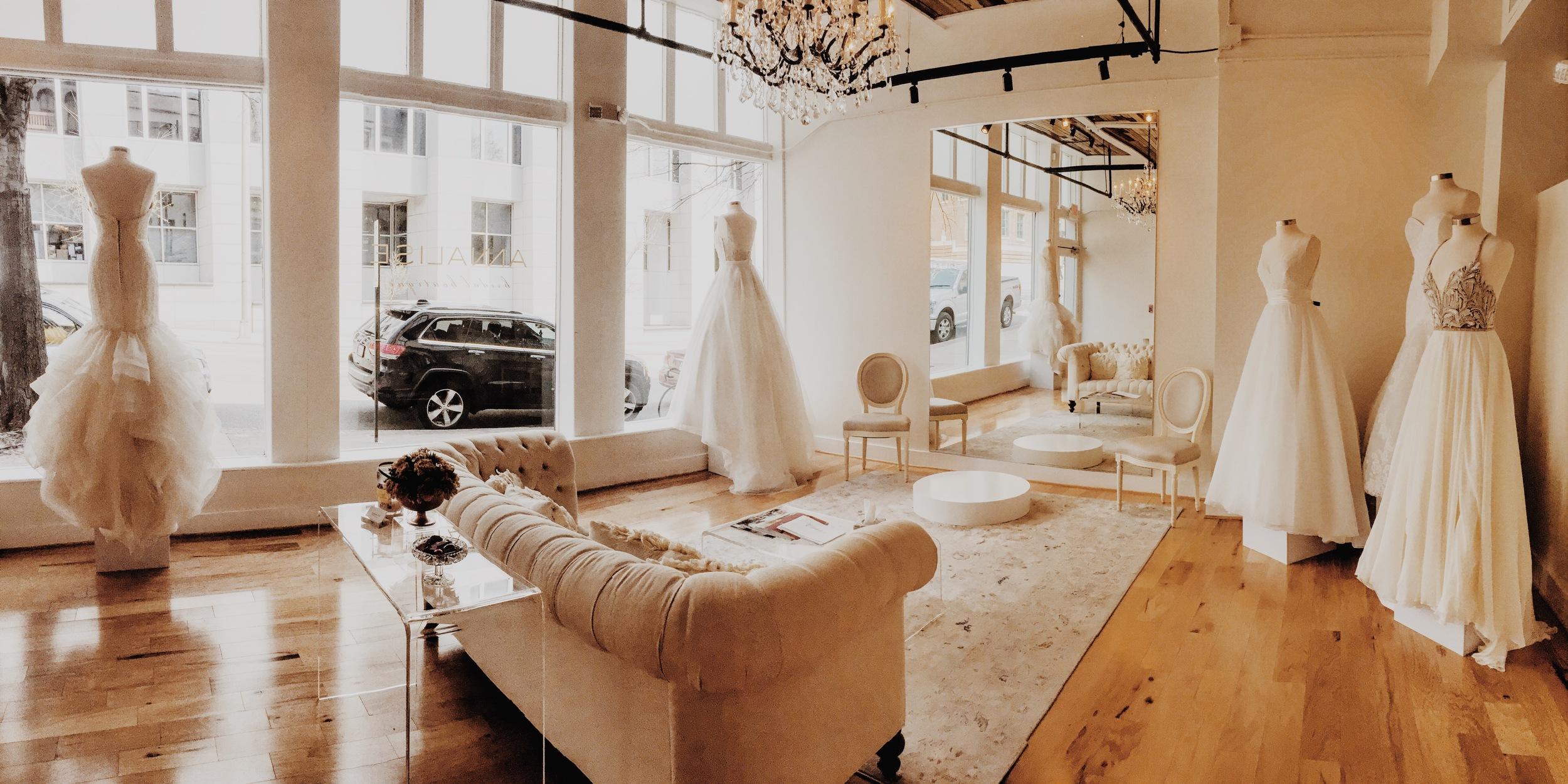 dae5d6d60b7a Feature Friday: Annalise Bridal Boutique. annalisebridalfrontroom.  annalisebridalfrontroom
