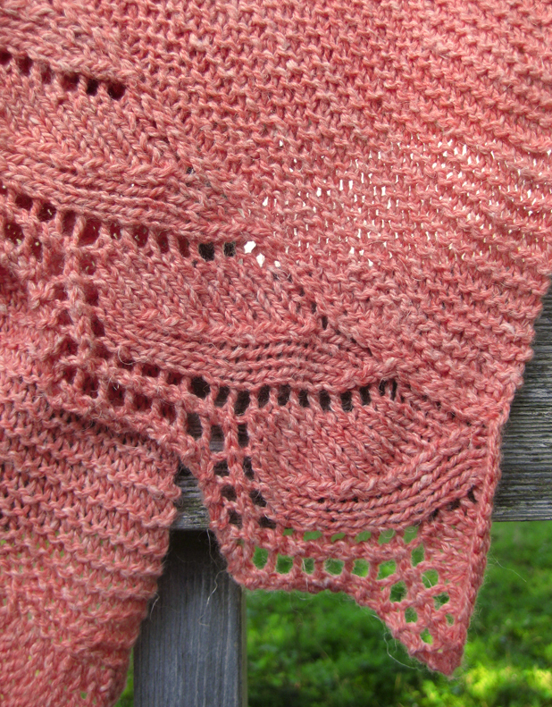 New Free Pattern Schieffelin Point Shawl