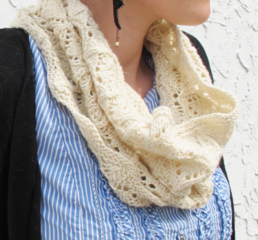 Easy Lace Cowl Knitting Pattern : New Free Pattern! Wicker Cowl