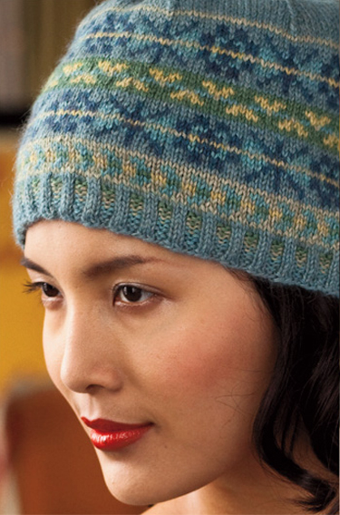 Vogue knitting holiday 2011 7 fair isle hat by yoko hatta dt1010fo