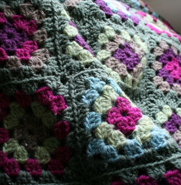 Jill Draper  shares an image of her very first crochet project!