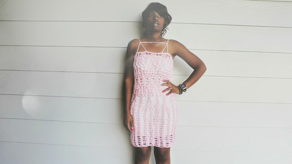 The Crossed Crochet Dress
