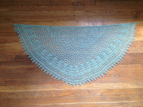 Salena's shawl in Pennyroyal
