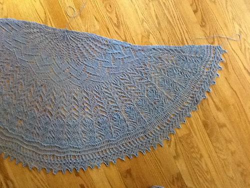 Carol's shawl in Aster