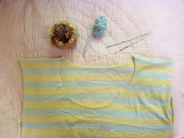 Crochetsummer2014 Cal Patch T Shirt Tutorial