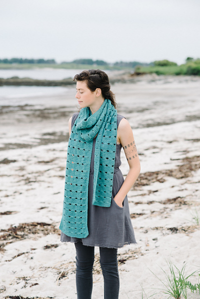 Beatrice Scarf by Carrie Hoge featuring Canopy Worsted