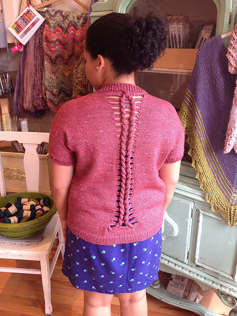 Love Braid Cardigan back in Fibre Co Acadia