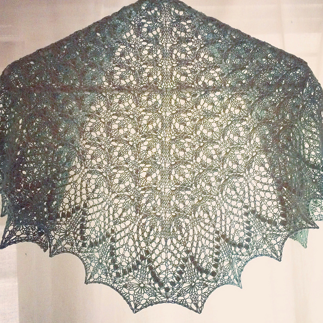 echo flowers shawl in Fibre Co Meadow