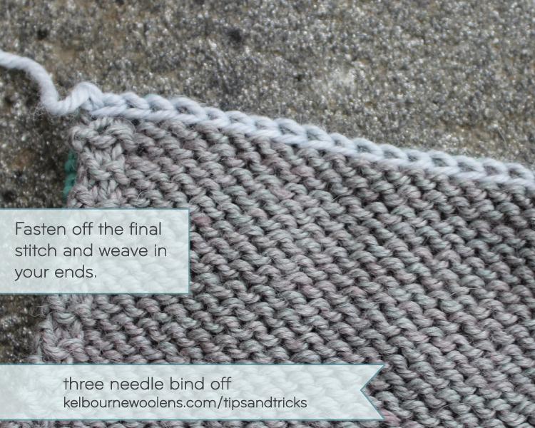 kelbourne tips + tricks: three needle bind off