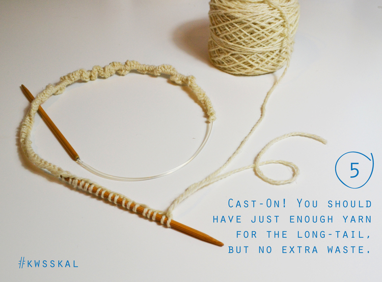 no waste long tail cast on tutorial by Kelbourne Woolens