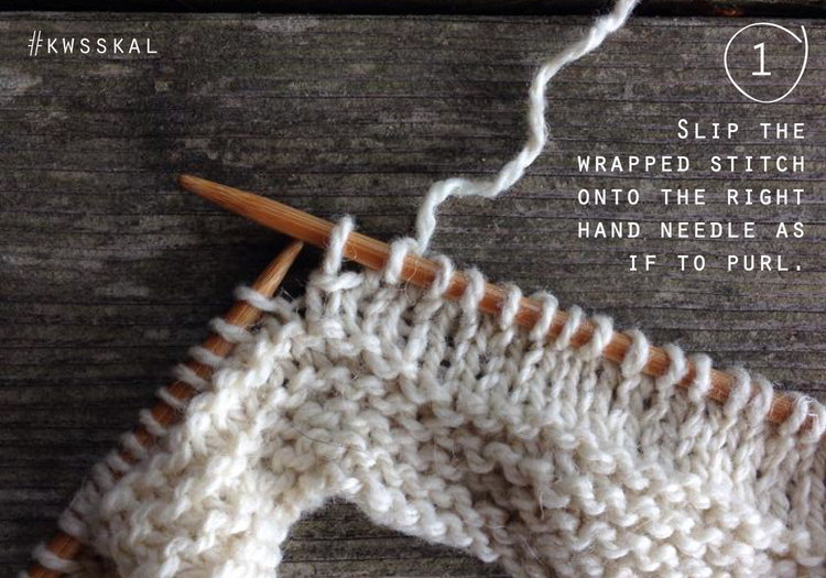 short row wrap + turn pick up tutorial by Kelbourne Woolens