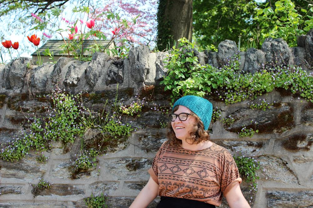 Leah's Finished L'Arbre hat via Kelbourne Woolens