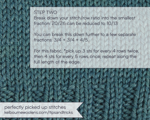 Knitting Picking Up Stitches Evenly : Tips + Tricks: Perfectly Picked Up Stitches   KW