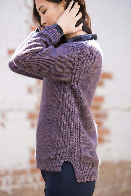 Argentan Pullover by Leah McGlone featuring The Fibre Co. Organik in the Fall 2015 issue of Knitscene