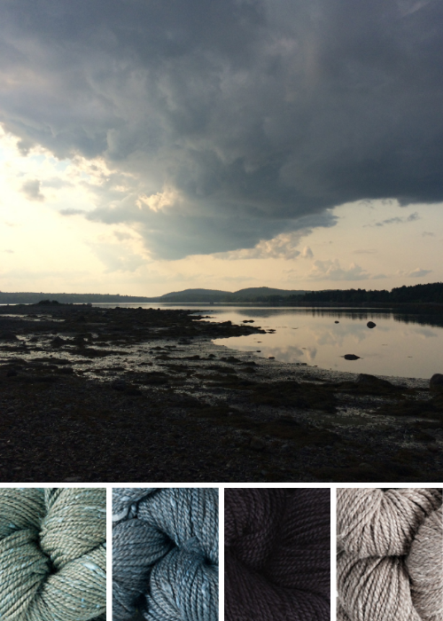 color inspiration: Acadia / summersweet, granite, cormorant, driftwood