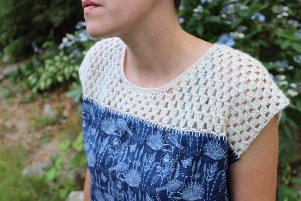 KW #CrochetSummer2015 crochet / sewn top
