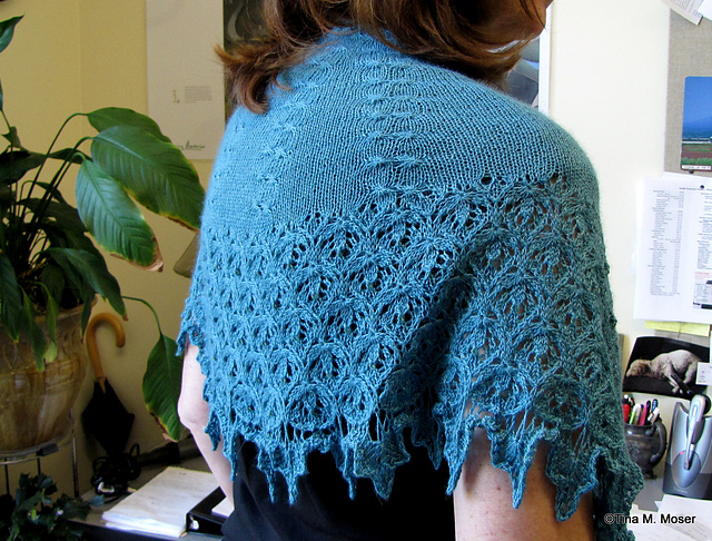 Valeriana Shawl in Fibre Company Road to China Lace