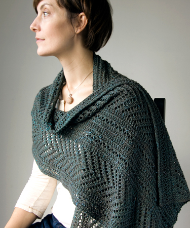 Boiseau Wrap by Megan Goodacre in The Fibre Co. Acadia