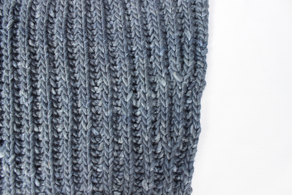 The Fibre Co Terra in Ash - Brioche Stitch