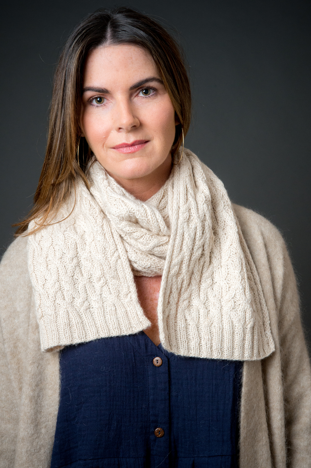 Jordan Pond Scarf by Kate Gagnon Osborn