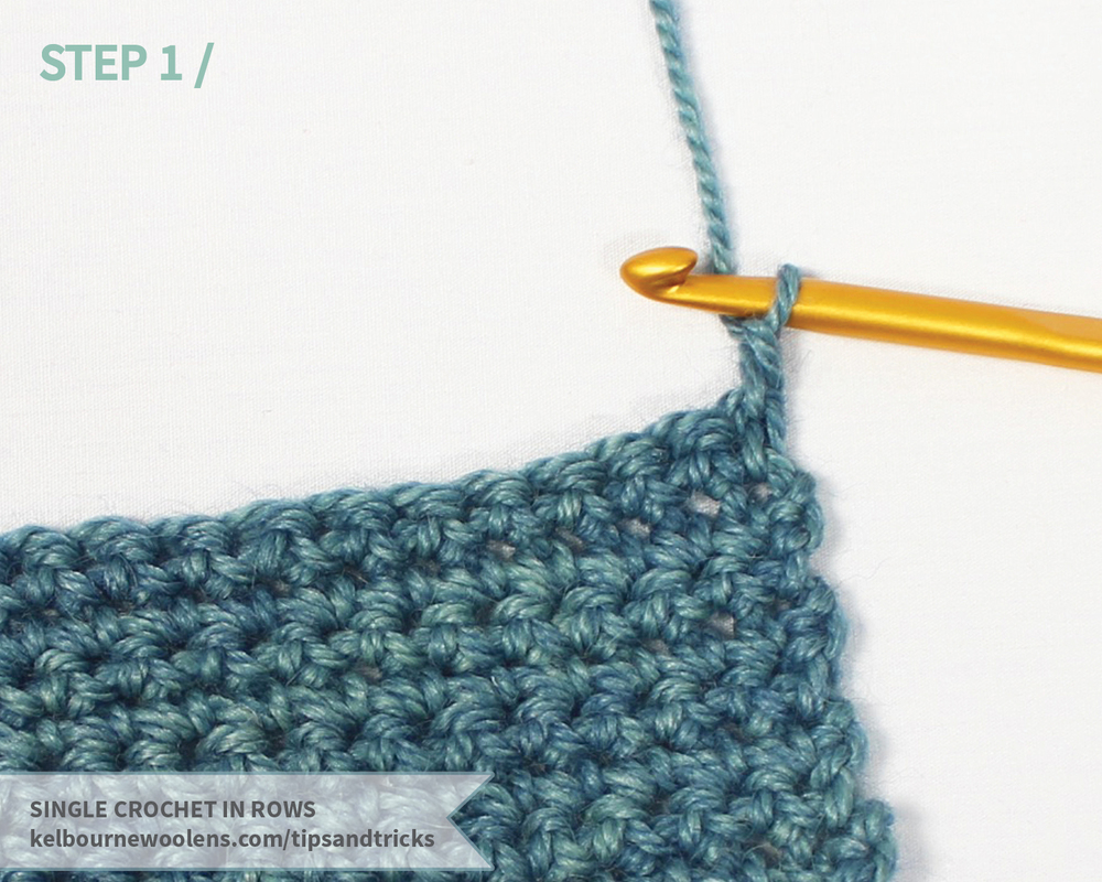 KW tips and tricks: single crochet in rows