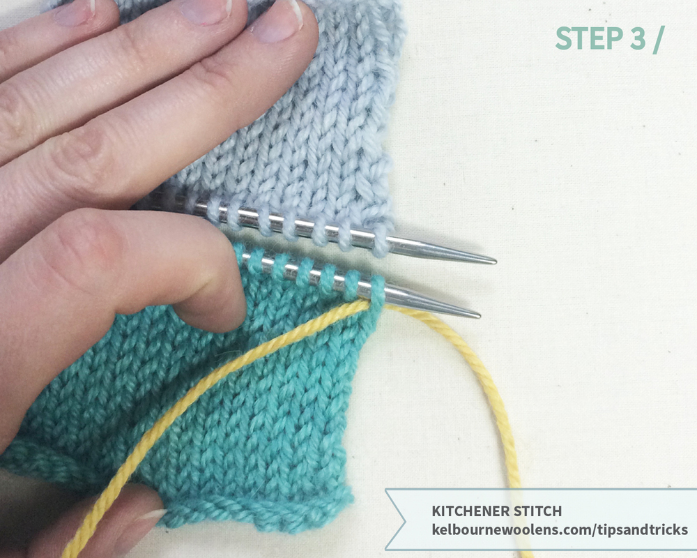 KW Tips + Tricks: kitchener stitch