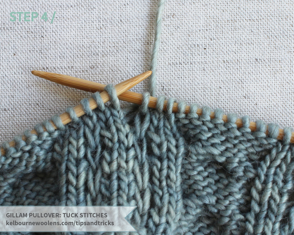 KW Tips and Tricks: Gillam Pullover Tuck Stitches