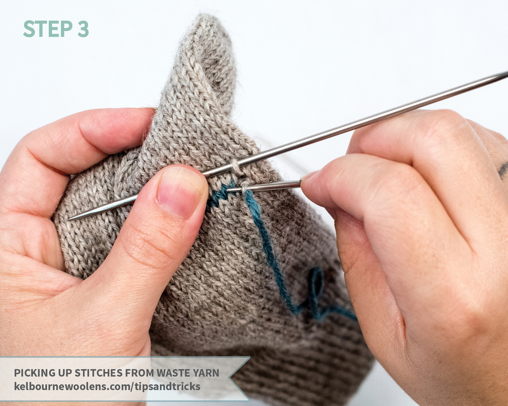 KW Tips and Tricks: Picking Up Stitches From Waste Yarn