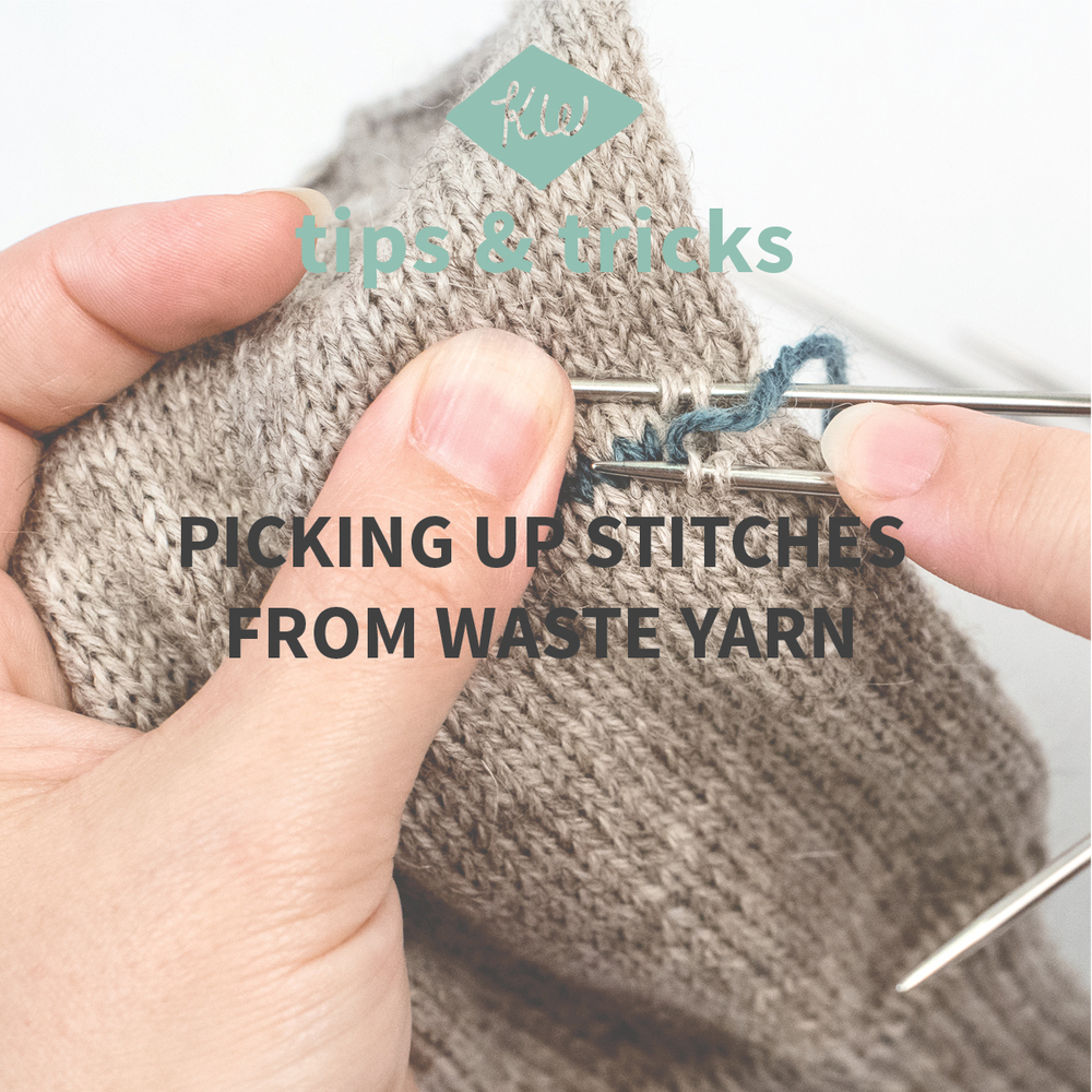 Picking Up Stitches In Knitting Mitten Thumb : Tips + Tricks: Picking Up Stitches From Waste Yarn