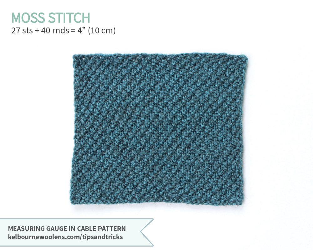 KW Tips + Tricks: Measuring Gauge in Cable Pattern
