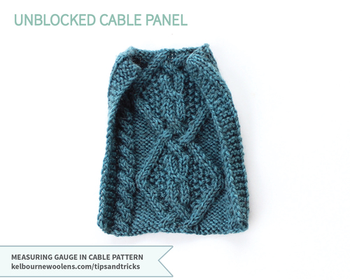 Swatching In Cable Pattern