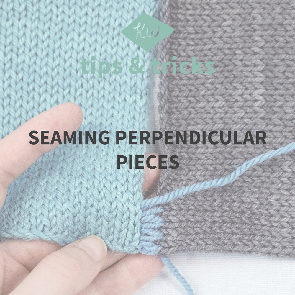 Knitting Joining Seams Mattress Stitch : Tips + Tricks: Perpendicular Seaming