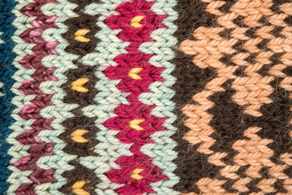 beyond stripes color work knit sampler detail