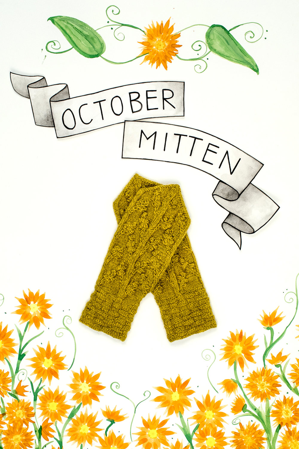 Year of Mittens October Mitten by Meghan Kelly in The Fibre Co. Cumbria Fingering
