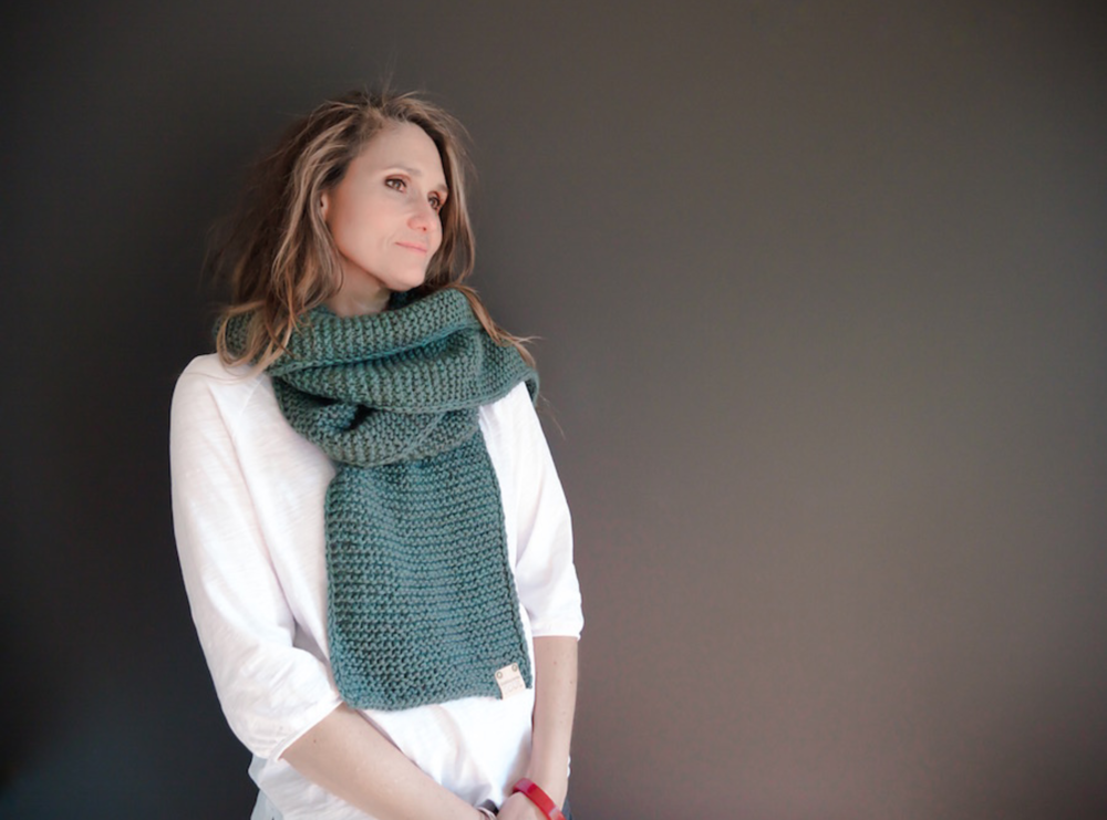 Soul Scarf No. 1 in The Fibre Co. Tundra