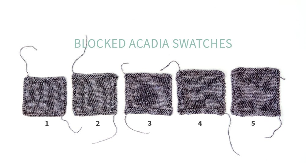 #KWswatchexperiment The Fibre Co. Acadia Blocked Swatches