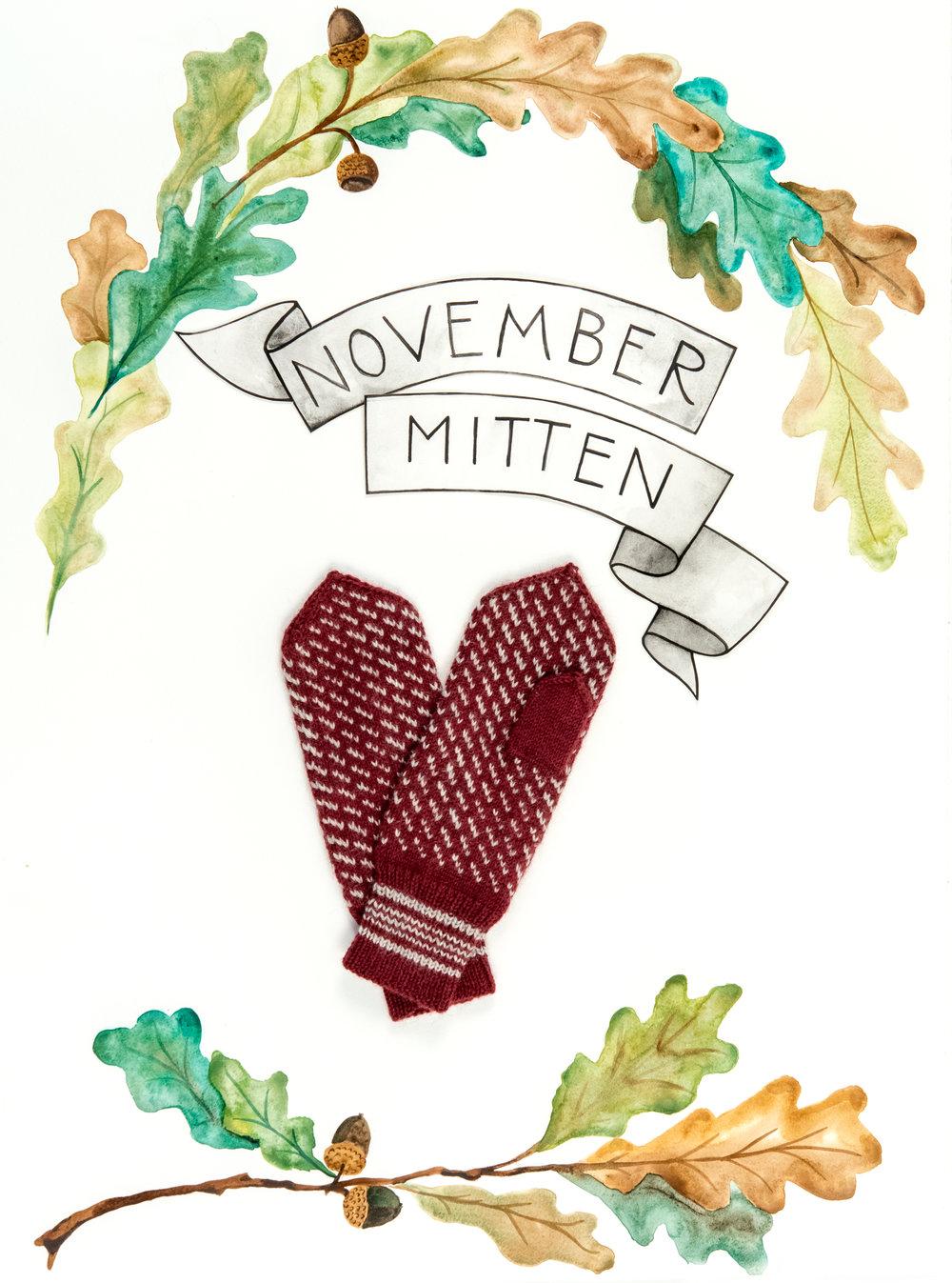 Kelbourne Woolens Year of Mittens November Mitten