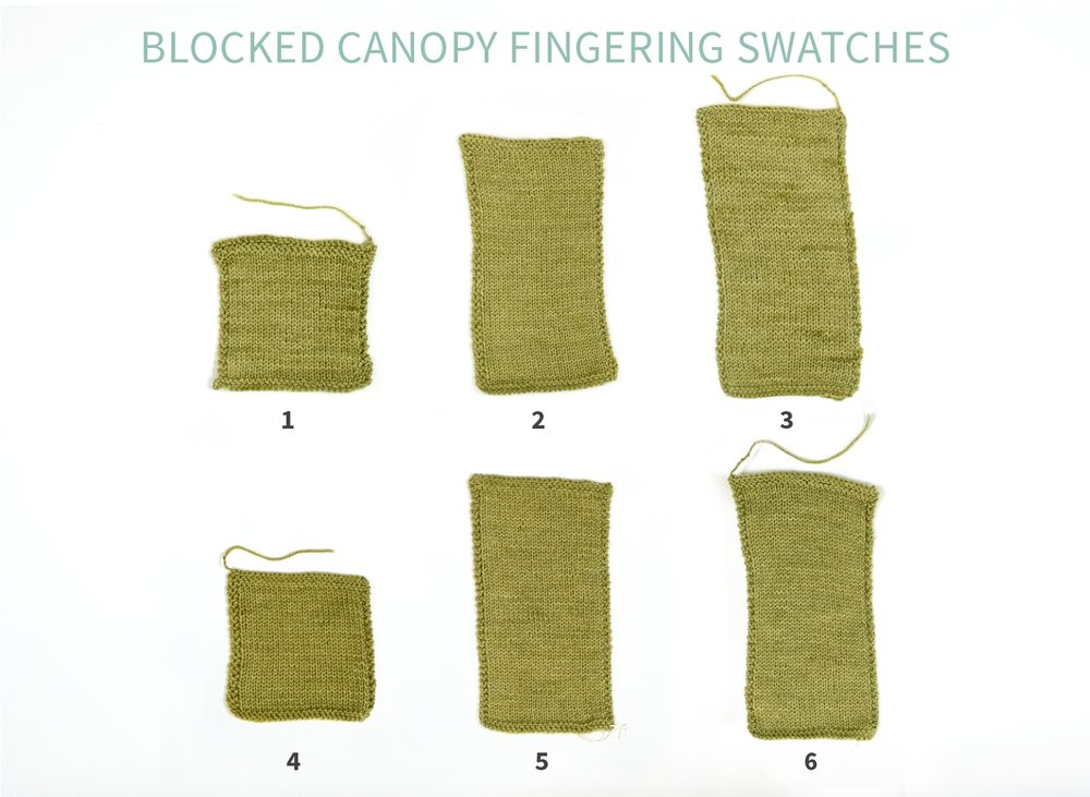 KW Swatch Experiment: Canopy Fingering