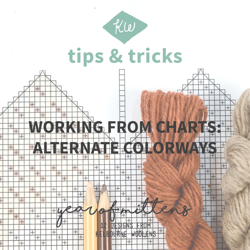 KW Tips and Tricks: Working from charts, Alternate Colorways