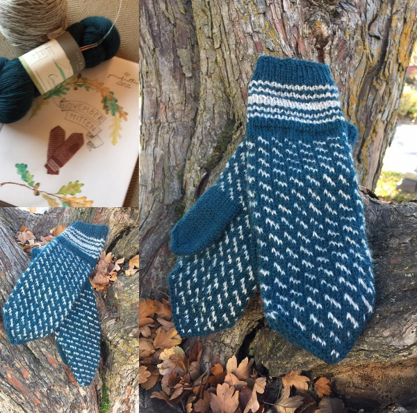 Kelbourne Woolens November Mitten made with The Fibre Co. cumbria fingering by Kris Thompson Rubert #yearofmittens #kelbournewoolens